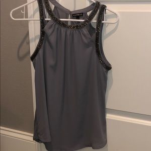 express grey tank with silver liner